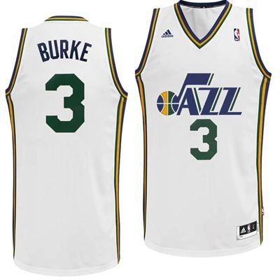 Utah Jazz Adidas NBA Trey Burke  3 Swingman Jersey (White)  3c5baca00