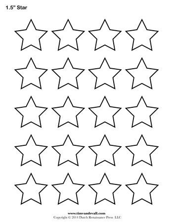 picture about Star Template Printable known as Star Template - 1.5 Inch - Tims Printables Lecturers CLIP