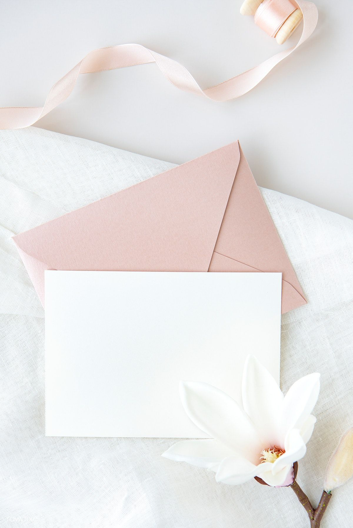 Download Premium Psd Of Blank White Card Template Mockup 1204281 In 2020 Card Template Invitation Mockup Flower Frame