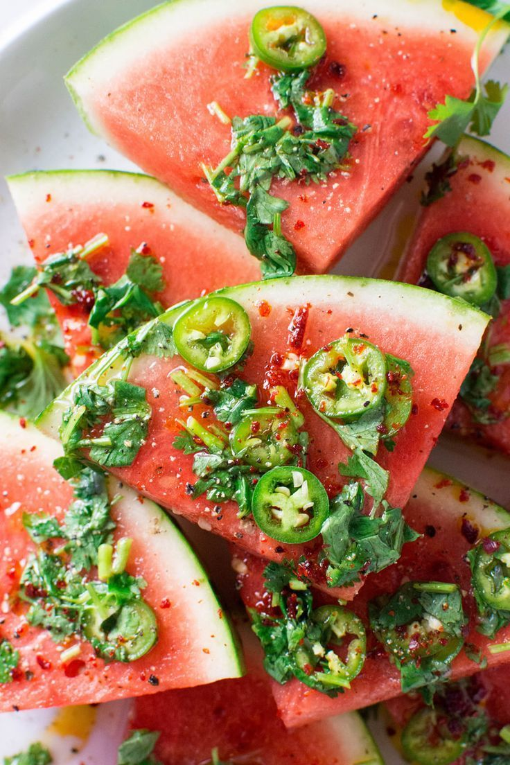 Spicy Watermelon Salad With Cilantro And Lime