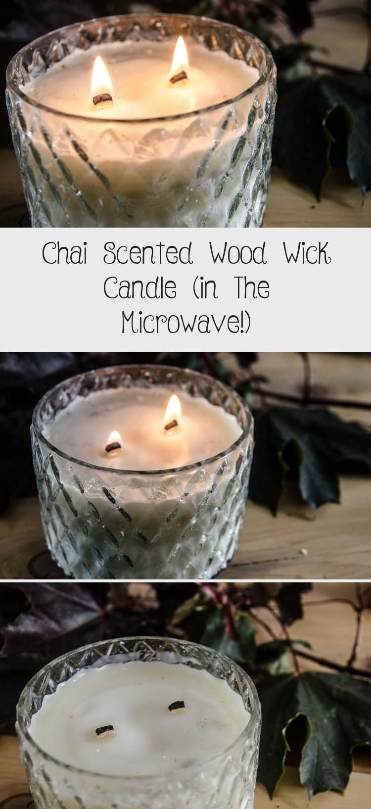 Chai scented wood wick candle in the microwave diy 2020