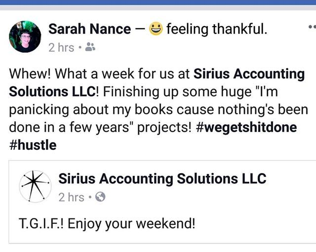 Wow! Feeling super thankful for my clients! #quickbooks