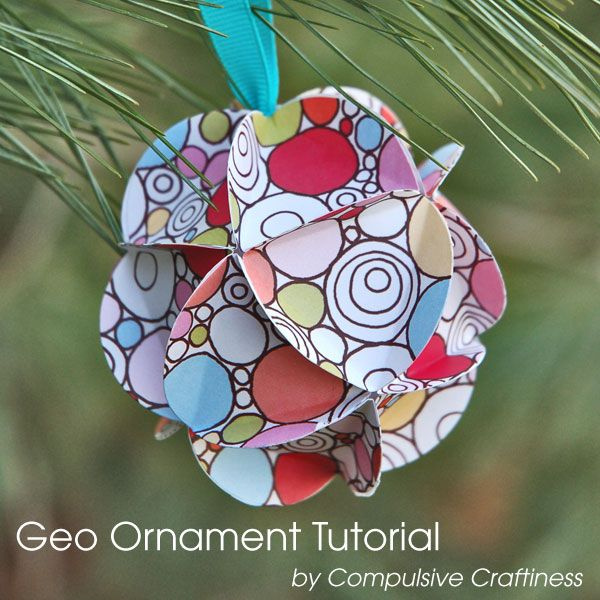 Homemade Paper Christmas Tree Ornaments