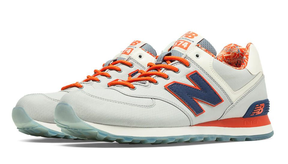 new balance 574 orange and grey