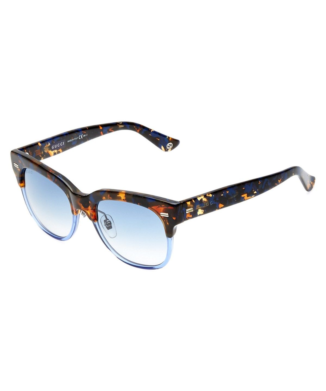 Gg 3744/S Acetate Square Frame Sunglasses, Blue