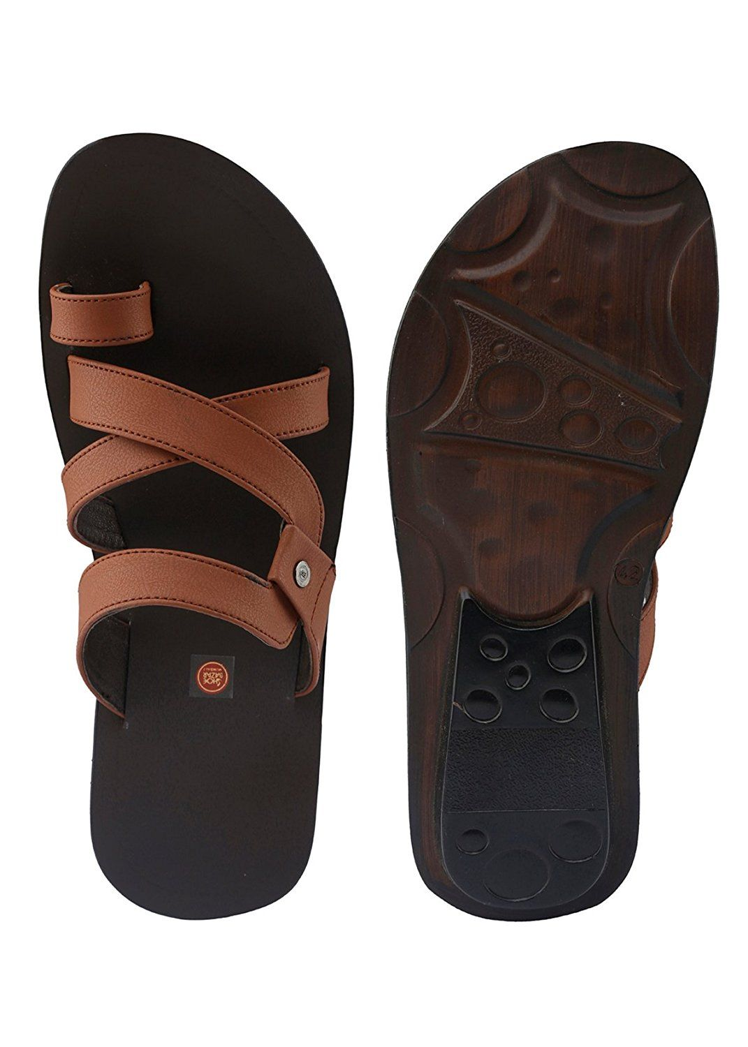 8f9ceabb7 Shoe Bazar Tan Casual Sandals: Buy Online at Low Prices in India - Amazon.in