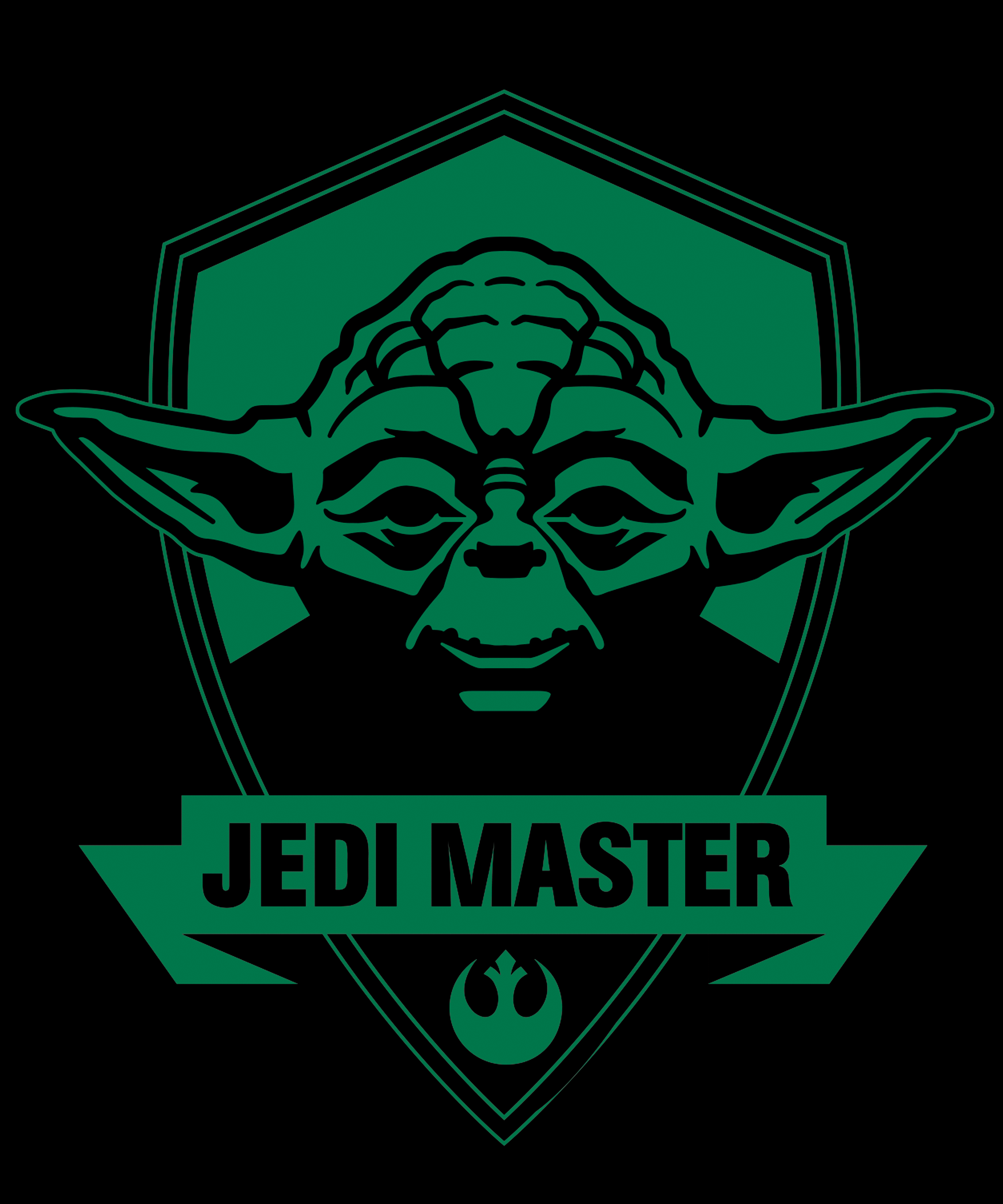 May The 4th Be With You Logo: Star Wars Yoda Jedi Master
