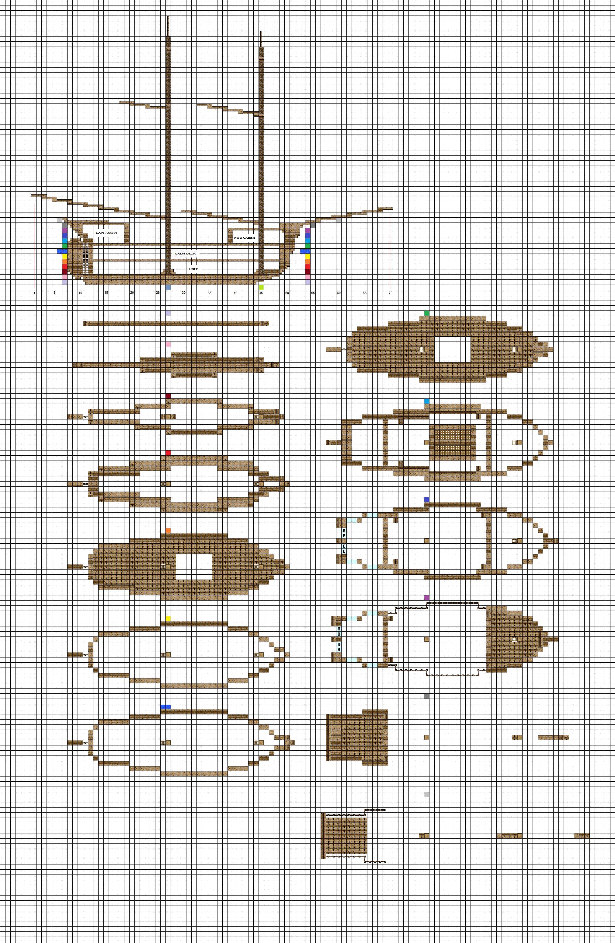 Minecraft sailing Brig plans pg1 hull by ColtCoyote deviantart com on   DeviantArt. Minecraft sailing Brig plans pg1 hull by ColtCoyote deviantart com