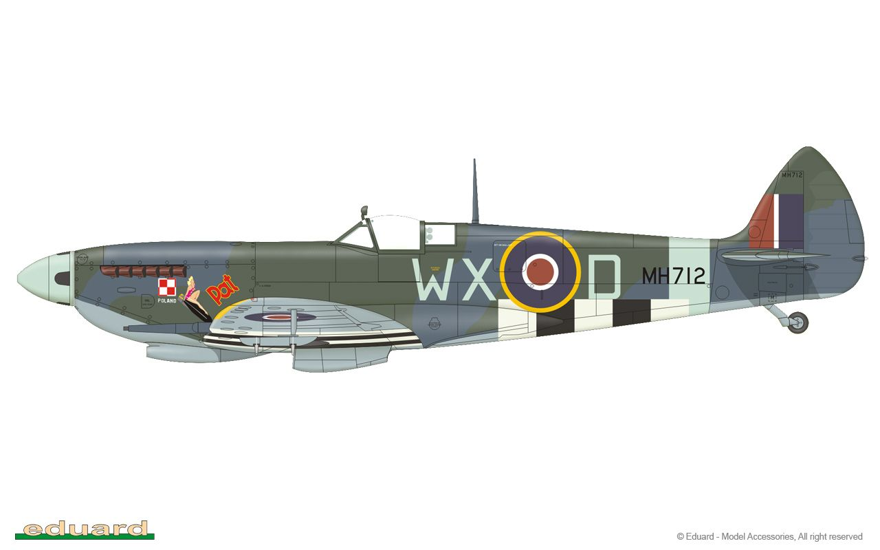 Spitfire Mk Ixc Late Version 1 48 Fighter Aircraft Wwii Aircraft Model Aircraft