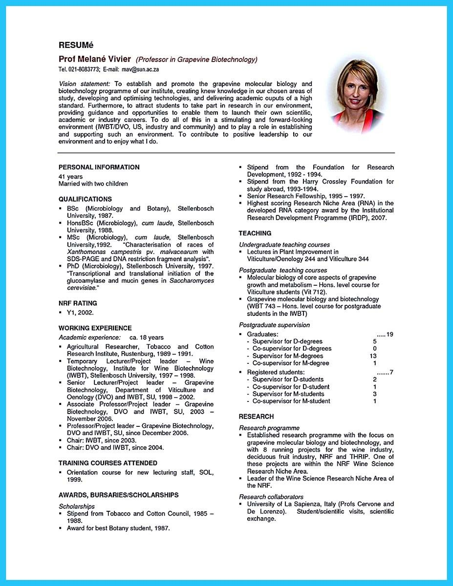sophisticated job for this unbeatable biotech resume