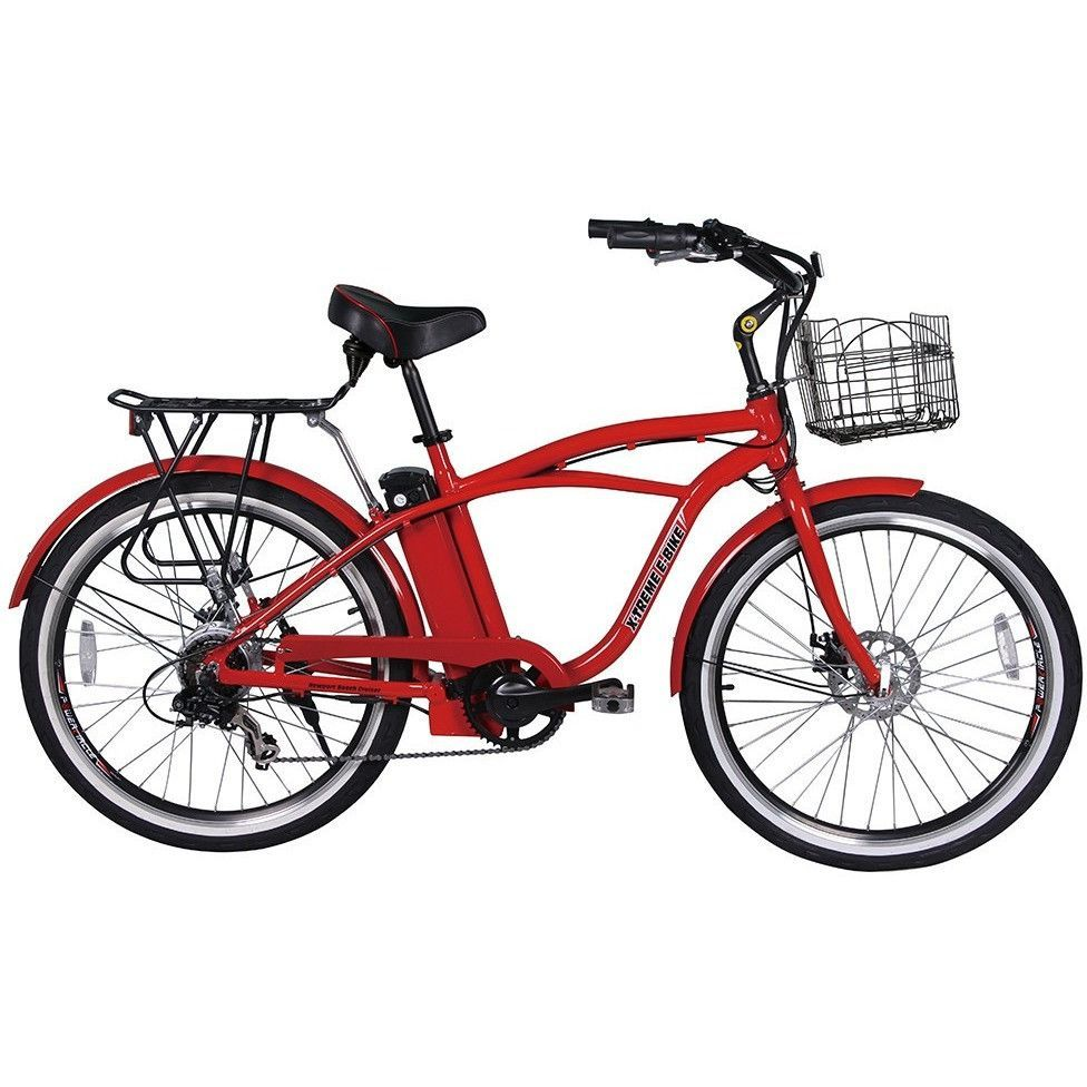 X Treme Newport Elite 24v Electric Beach Cruiser Bike