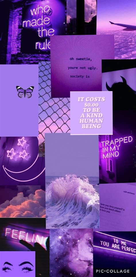 Purple Aesthetic Wallpaper Collage In 2020   Aesthetic