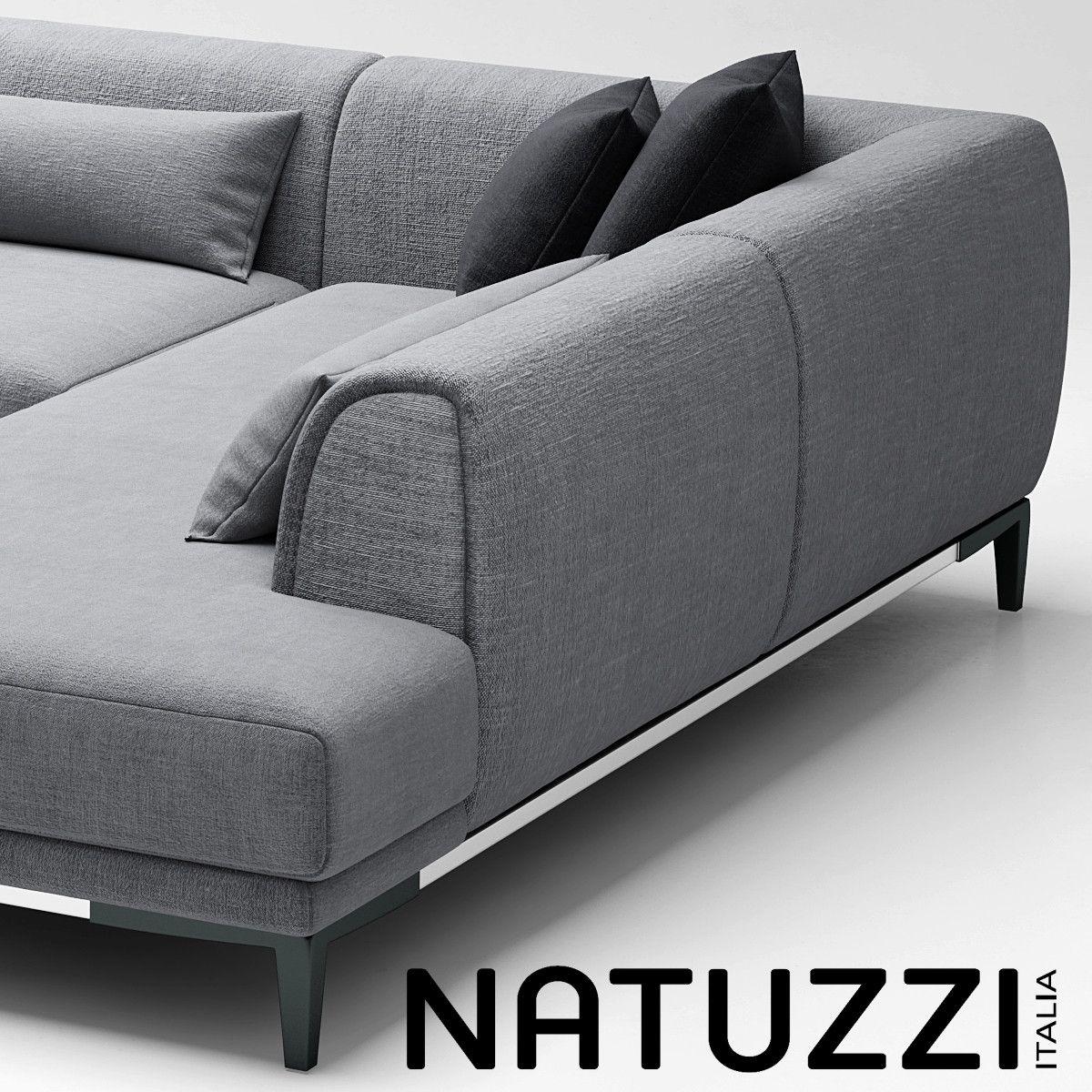 Sofa Natuzzi Trevi 3d Model