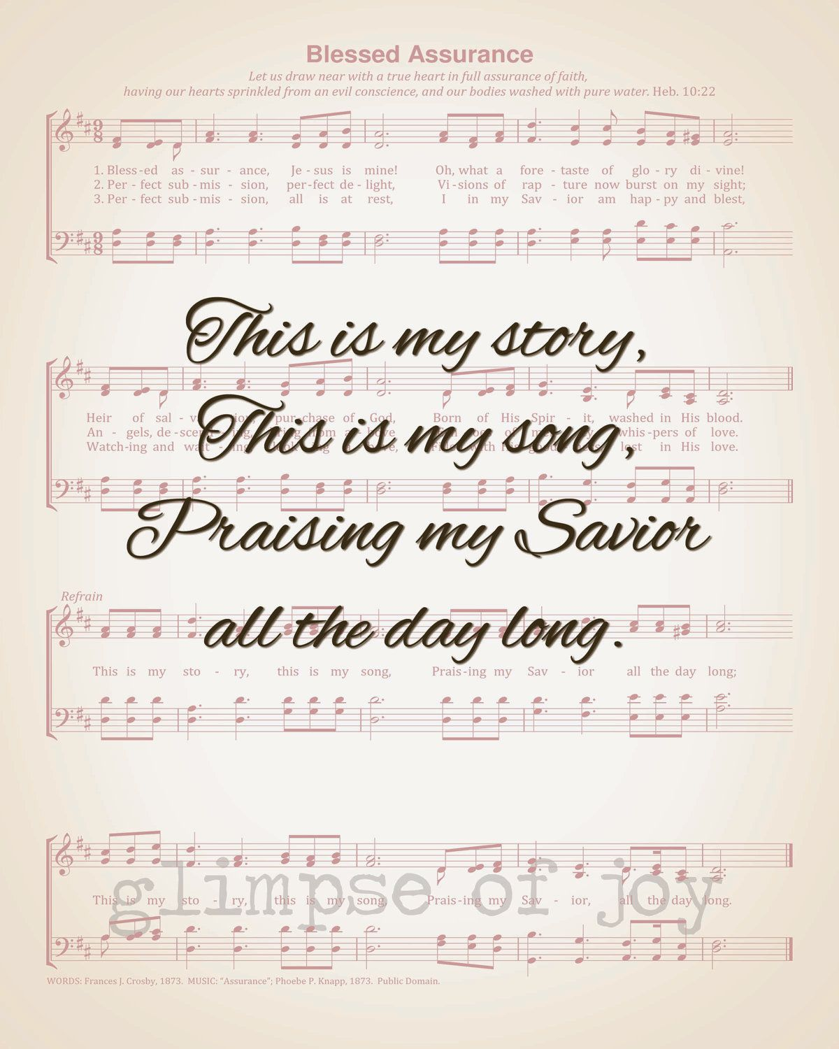 All the days of my life I will sing praise to my Lord and
