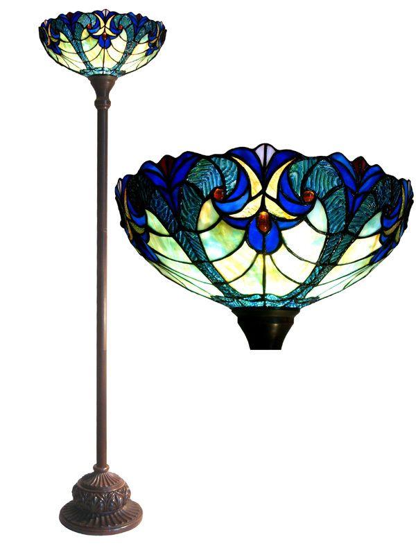 Chloe Lighting Tiffany Style Victorian Torchiere Floor Lamp Tiffany Style Lamp Victorian Floor Lamps Tiffany Style