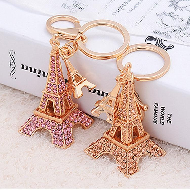 Paris Eiffel Tower Romantic France  Keyring Key Ring