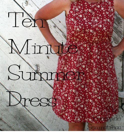 DIY Ten Minute Summer Dress Tutorial
