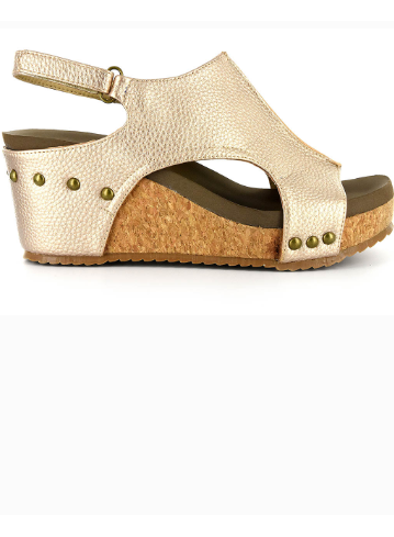 92f805e6fcd Corkys London Wedge in Gold