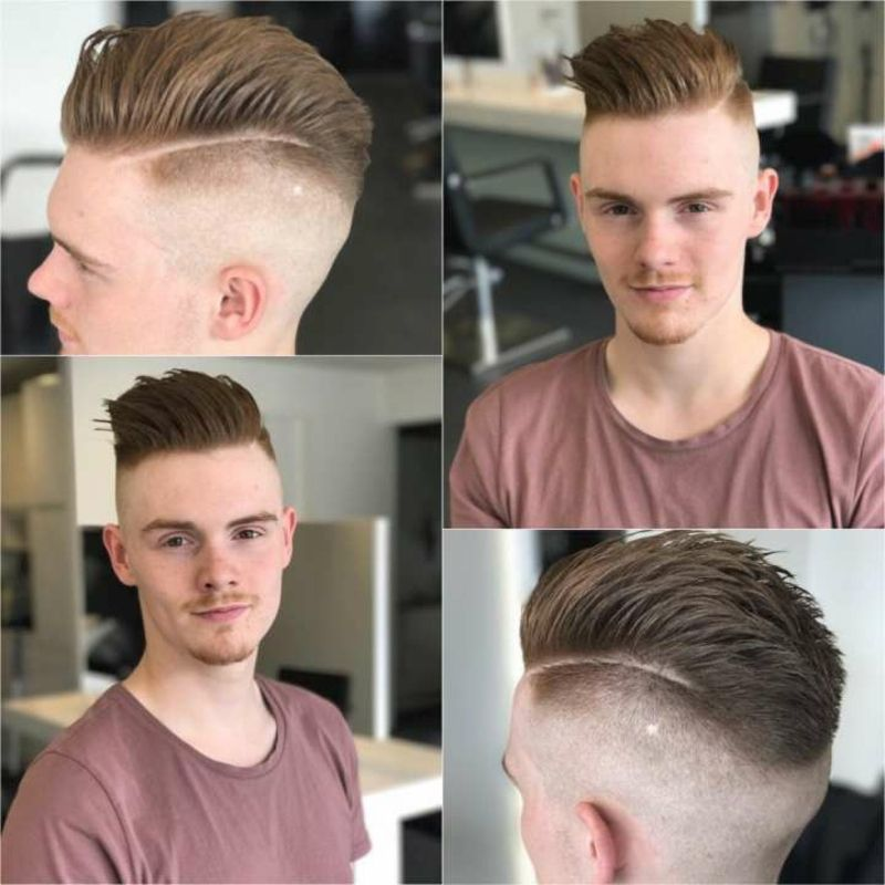 Moderne Frisuren Manner Sidecut Nach Hinten Gestylt Hairstyle