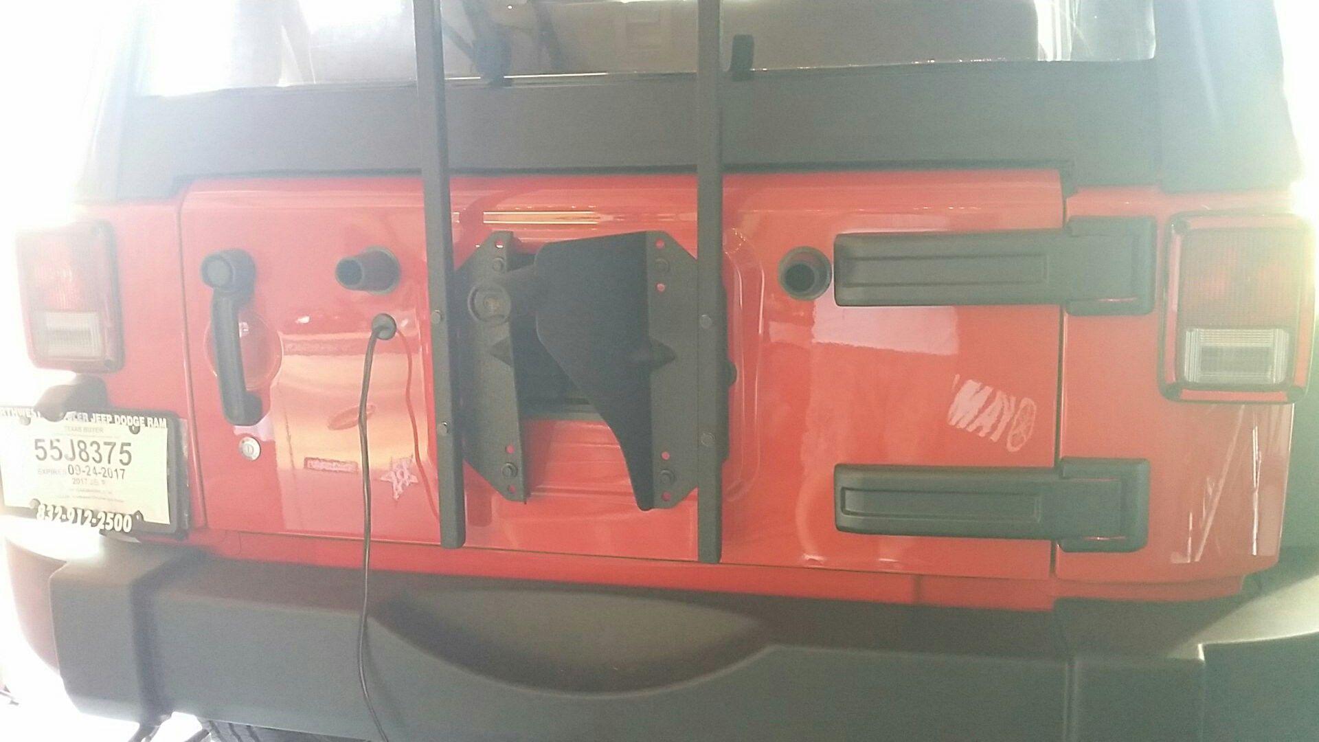Oversize tire carrier 2017 jeep wrangler, Jeep wrangler