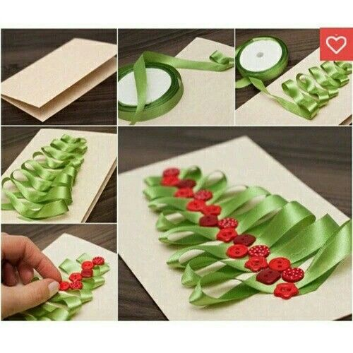 Hazlo tu misma do it yourself diy arts crafts manualidades how to make a ribbon christmas tree card ribbon diy christmas diy crafts do it yourself diy projects christmas card christmas tree card solutioingenieria Image collections