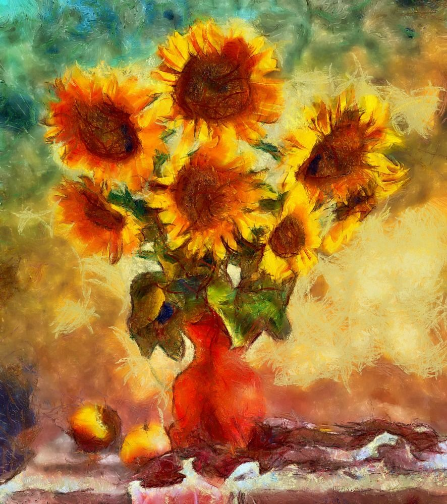 Sunflowers - Dynamic Auto Painter Pro 4.