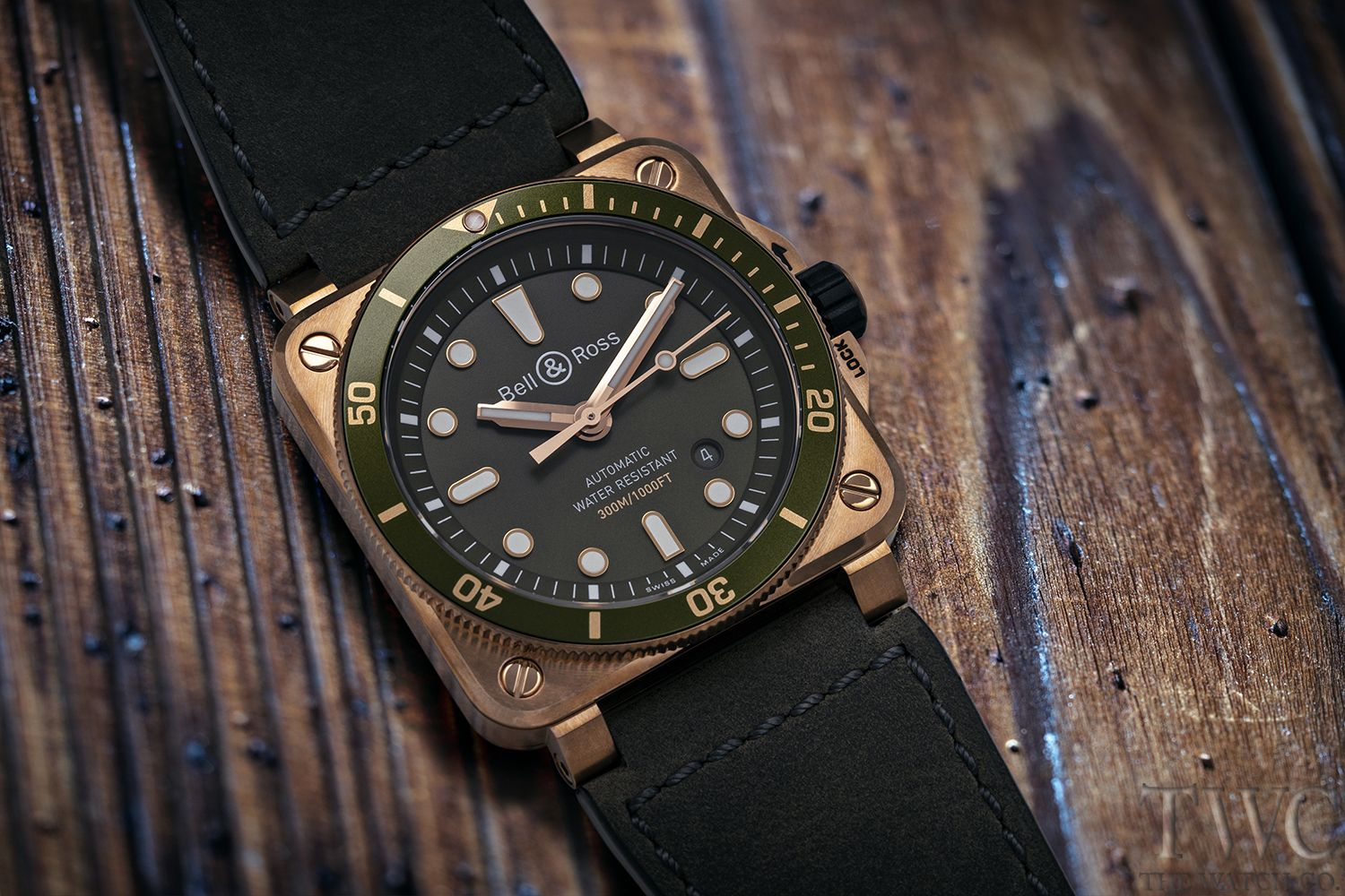Bell Ross Instruments Br0392 Diver Green Bronze Men S Watch Watches For Men Bell Ross Limited Edition Watches
