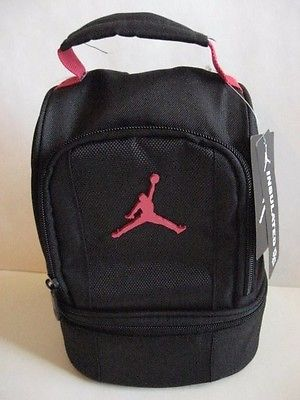 8d9bf155bc97 New NIKE AIR JORDAN INSULATED DOME 2-PART LUNCH TOTE BAG BOX Black Red  Jumpman  19.99