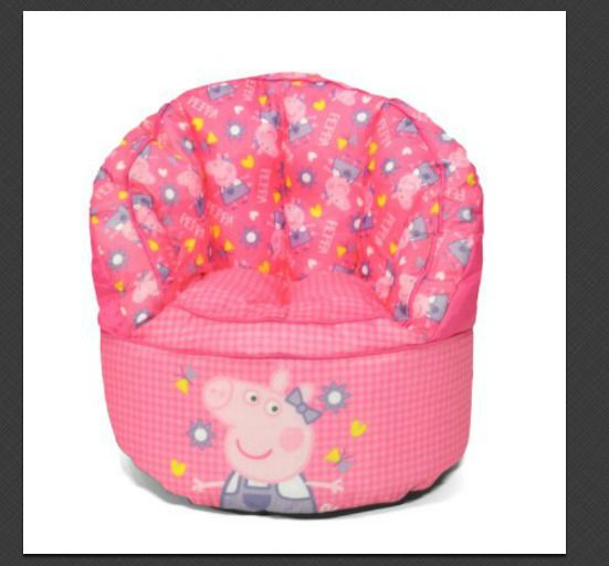 Enjoyable Kids Peppa Pig Sofa Bean Bag Chair Spot Clean 18 X 18 X 18 Onthecornerstone Fun Painted Chair Ideas Images Onthecornerstoneorg