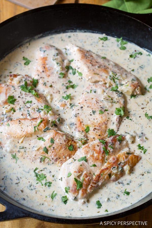 Creamy Salsa Verde Chicken Skillet