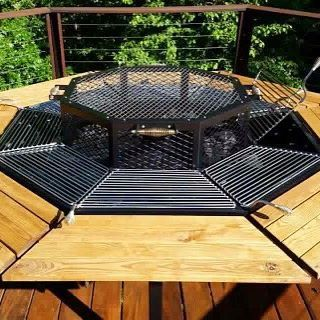 Jag Grill Firepit Grill Bbq Table Luxury Barbecue Firepit Grill Fire Pit Outdoor Fire Pit Grill Set