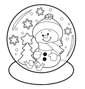 Snowglobe Christmas Coloring Sheets Snowman Coloring Pages