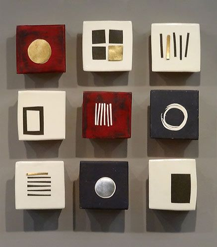 Nine Squares: Lori Katz: Ceramic Wall Art   Artful Home