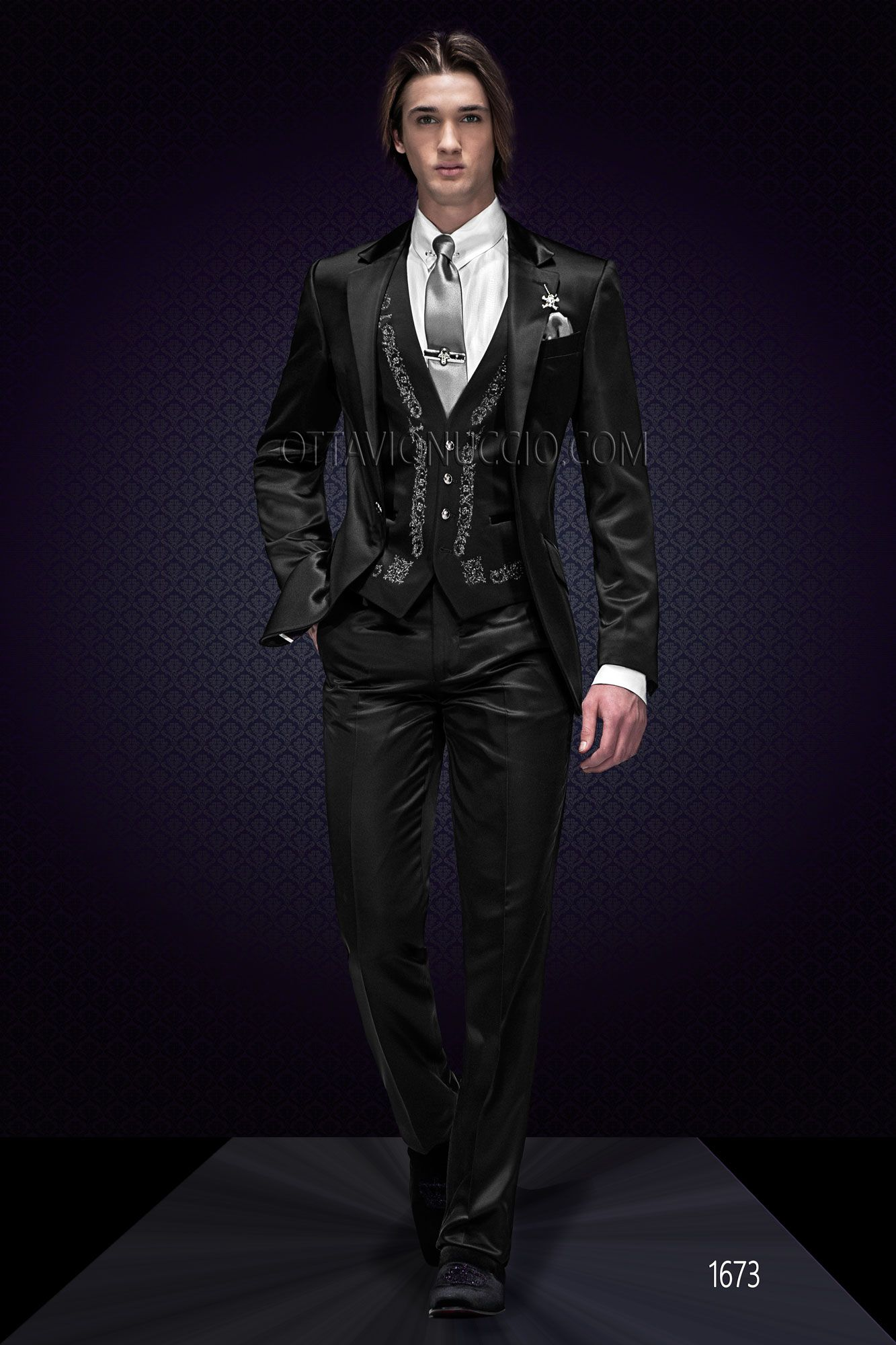 Black Wedding Suit With Silver Tone Embroidery Black Suit Wedding Wedding Suits Men Designer Suits For Men [ 2000 x 1333 Pixel ]