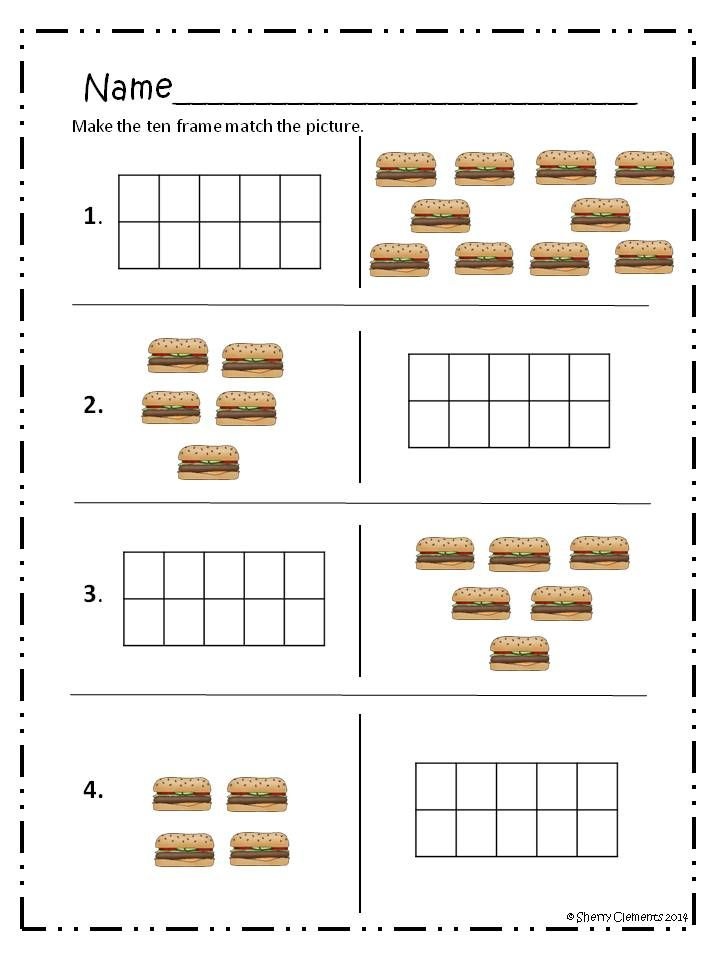math food fun addition ten frames greater thanless than and