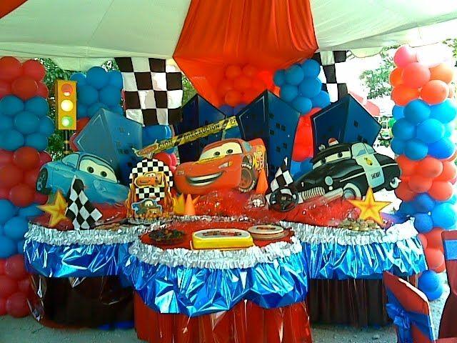 Decoraciones infantiles fiesta infantil tema cars de - Mesas infantiles disney ...