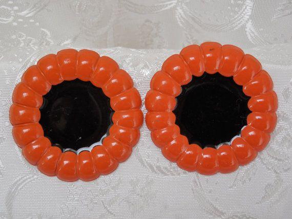 80s Vintage Earrings Orange & Black by KKCollectibleCollage, $3.50 https://www.etsy.com/listing/158877818/80s-vintage-earrings-orange-black