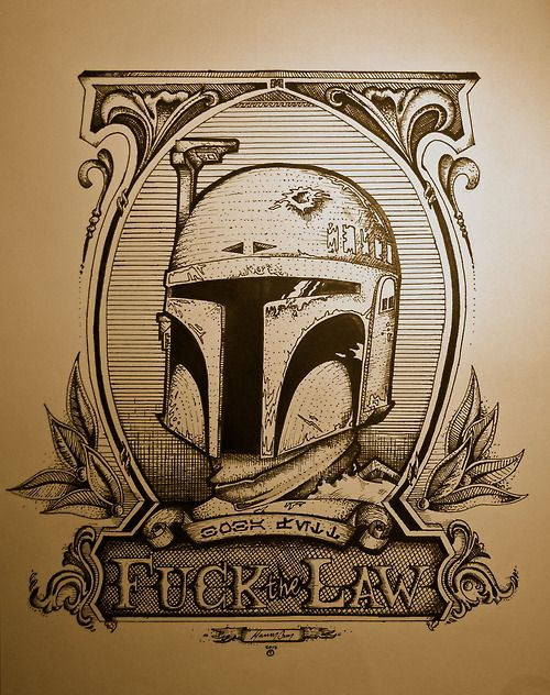 Boba Fett is the best. Props to the artist that drew this magnificent piece of work.