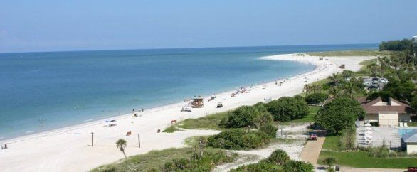 Lido Key St Armands Florida On The Gulf Of Mexico With Expansive Sandy Beaches