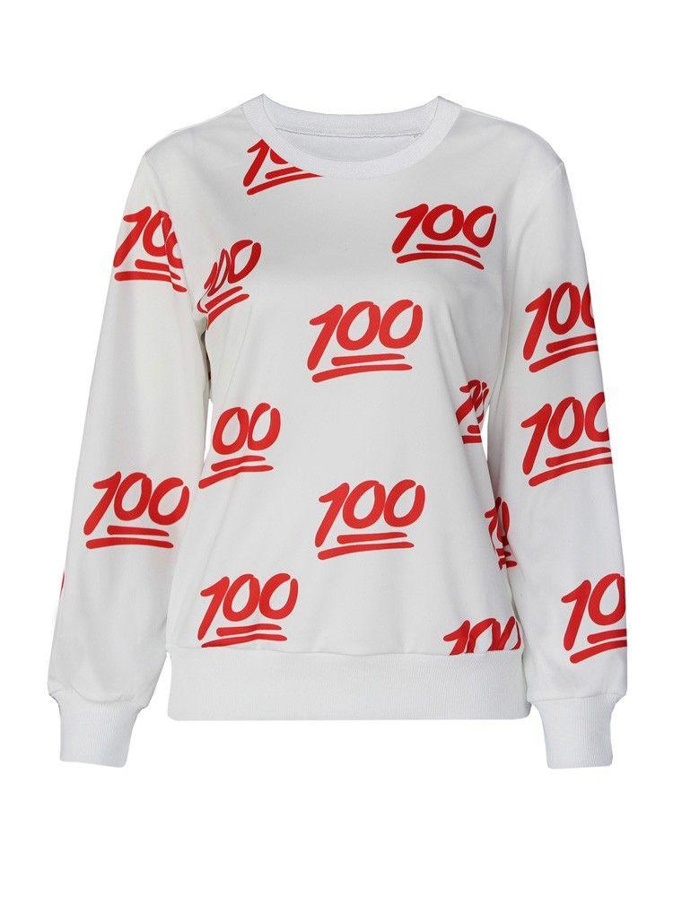 100 Emoji Sweat Shirt