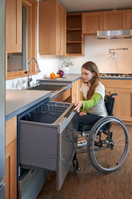 Transitional Kitchen By FabCabaccessible Design Wheelchair