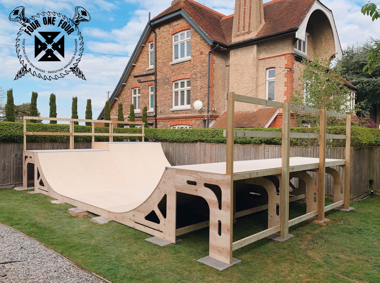 Diy Skate Ramp Kit Mini Ramp Kit For Easy Self Build Skate Ramp Mini Ramp Backyard Skatepark Backyard mini ramp kit