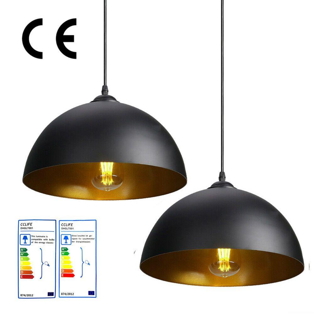 2er Industrielle Pendelleuchte Hangeleuchte Metall E27 Pendellampe Retro Schwarz Ebay In 2020 Hangeleuchte Pendellampen Led Beleuchtung Wohnzimmer