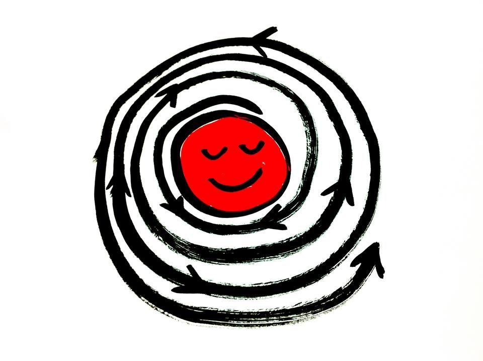 """""""Nuestra cabeza es redonda para permitir al pensamiento cambiar de dirección"""". Francis Picabia. Manuel Moranta #illustration"""