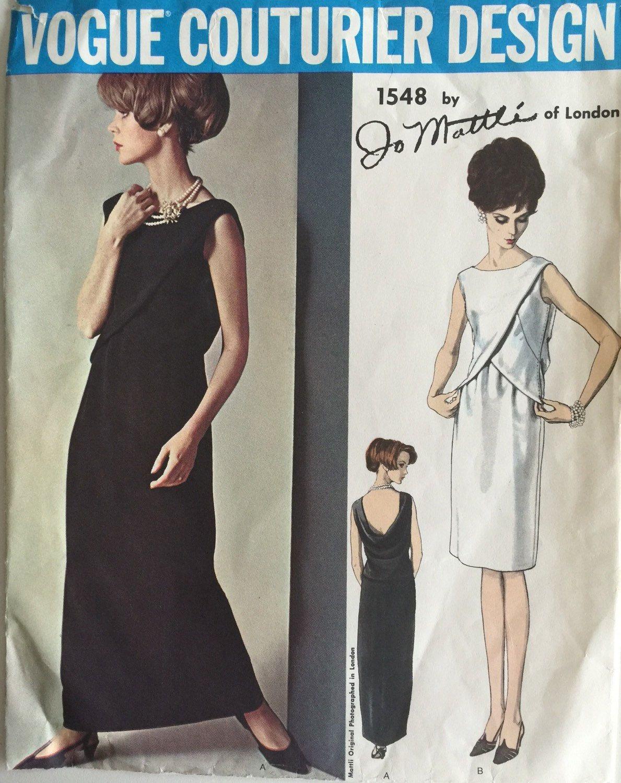 62a3ea1d8747 Vogue Couturier Design Vintage Sewing Pattern  1491 Fabiani Mod ...