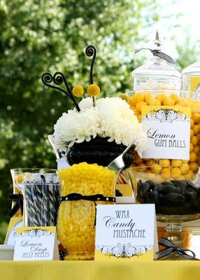 Black And Yellow Candies Could Be Bee Mine Valentines Theme
