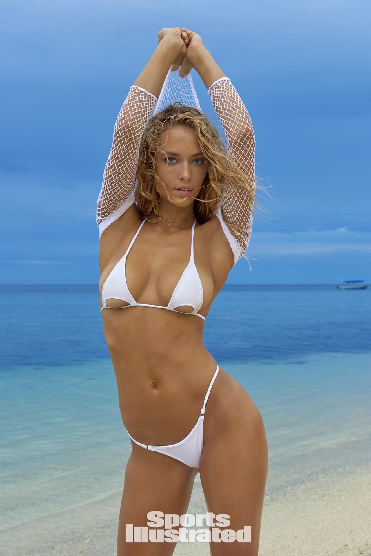 c0cbc908c86 Hannah Ferguson was photographed by Yu Tsai in Fiji. Swimsuit by Toxic  Sadie Swimwear. Top by We Love Colors.