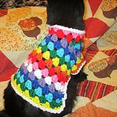 Josephine Kitty Cat or Small Dog Crochet Sweater Pattern pattern by Starling #dogcrochetedsweaters