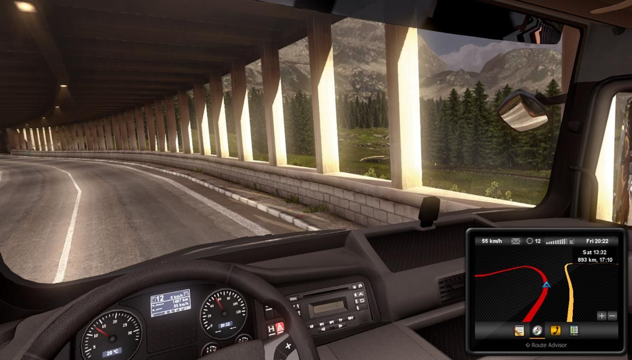Play this awesome android game, Euro Truck Simulator 3d