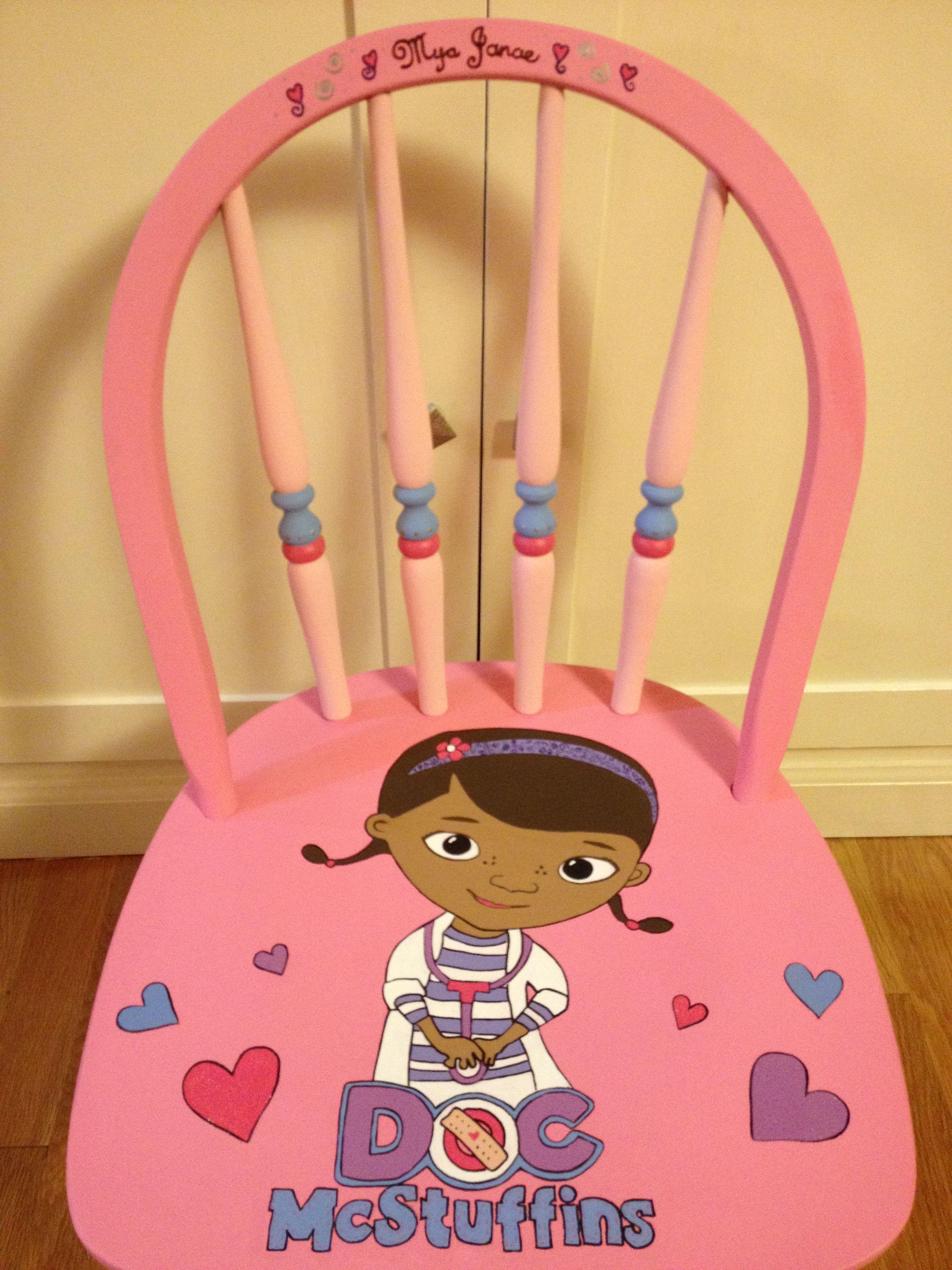 doc mcstuffin chair dxr racing uk mcstuffins custom for a little girl painted children s